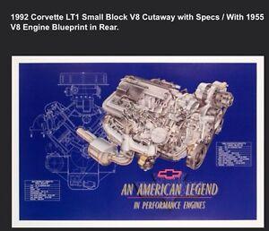 1992 Chevy Corvette LT1 Small Block V8 Cutaway Signed David