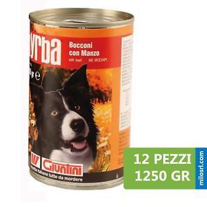 Pz 12 Scatoletta Scatola Bocconi Con Manzo Per Cani 1250 Gr Giuntini