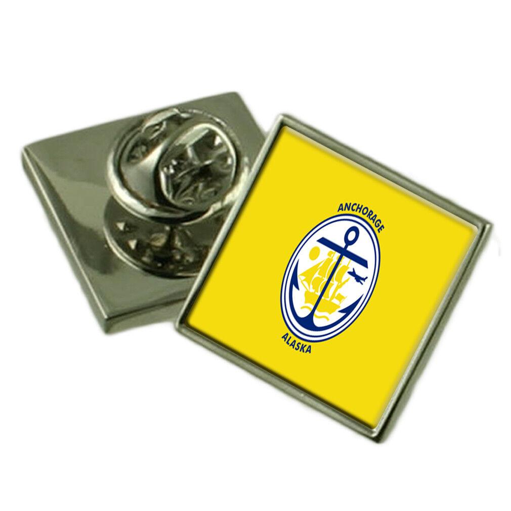 Ancoraggio City USA Flag bavero pin incisa incisa incisa BOX 7738cb