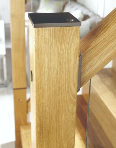 IMMIX Solid Oak Newel Post 90x725mm with Spigot /& Zip Bolt