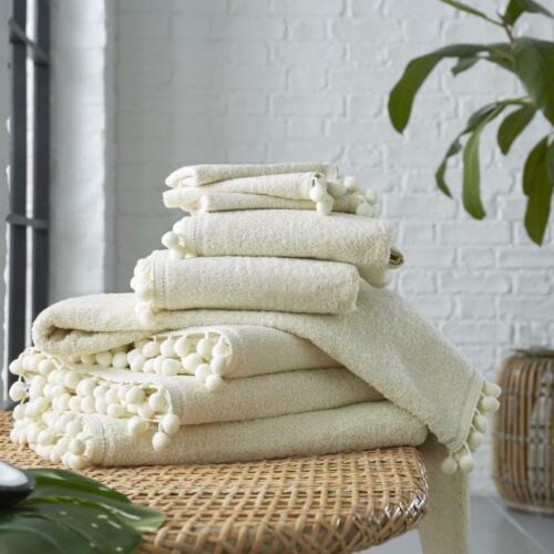 100/% Egyptian Cotton Pom Pom Designer Style Super Soft Thick Towels Bath Sheets