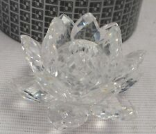 Swarovski Medium Water Lily candle holder Retired. Original box Art.7600 - C41