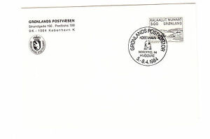 Groenland-FDC-Ersttagsbrief-Karte-1984-Aron-v-Kangeq-1-Mi-Nr-123