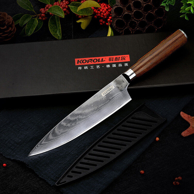 Chef knife Damascus 67 Layers Japanese Steel VG10 Kitchen Knife 8 Inch