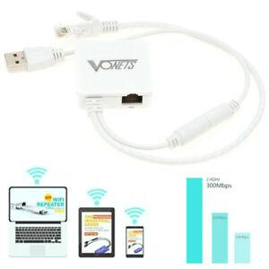 Wireless Dongle Bridge WiFi Cable Converter Rj45 Ethernet Port to Wire 300 Mbps