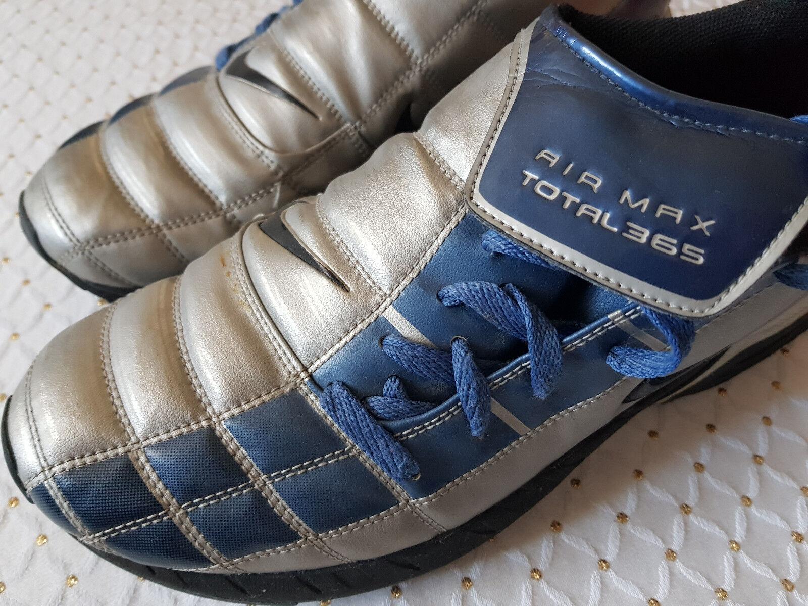 NIKE AIR MAX TOTAL 365   RAR gebraucht   Vintage   silber-blau   Gr.45   selten