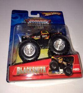 HOT-WHEELS-BLACKSMITH-20-MONSTER-JAM-MONSTER-TRUCKS-2006-METAL-BASE-1-64-4X4