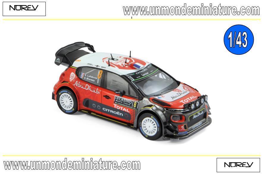 Citroën C3 WRC N°8 Monte Carlo 2017 - S.Lefebvre   G.Moreau   NOREV - NO 155362