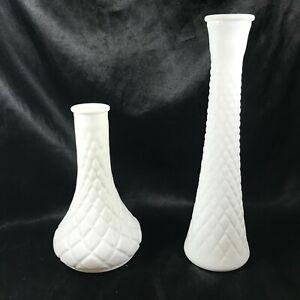 Pair-of-Vintage-Milk-Glass-Quilted-Bud-Vases