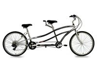 Kent Dual Drive 21 Speed Tandem Blue Bicycle With Cruiser-style Frame
