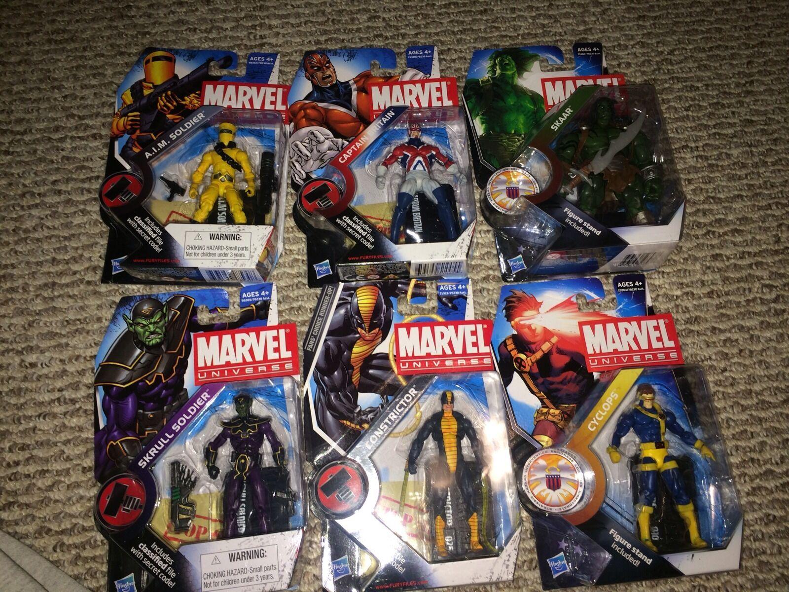 Marvel AIM Soldier Skrull Soldier Captain Britain Skaar Cyclops Constrictor 3.75