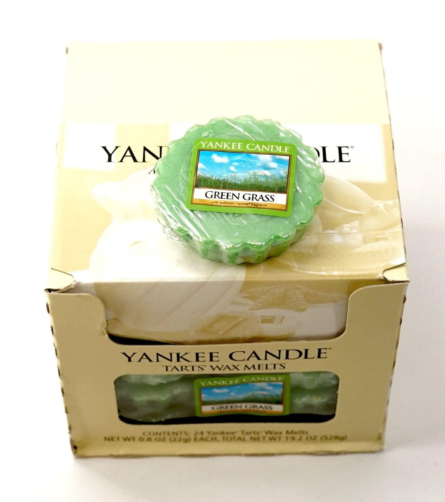 NEW Yankee Candle Full Box Lot of 24 TKunsts Wax Melts - Grün Grass