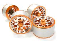 C26161orange High Mass 2.2 Size Y14 Spoke Beadlock Wheel(4)for Off-road Crawler