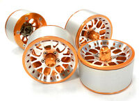 C26161orange High Mass 2.2 Size Y14 Spoke Beadlock Wheel(4)for Off-road Crawler