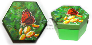 Hand-bemalte-Schachtel-Schmetterling-2-Kunst-Tier-hand-painted-box-butterfly-art