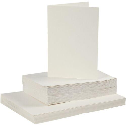 Kartengröße 10,5x15 cm Creme farbend 50 Sets Karten und Kuverts