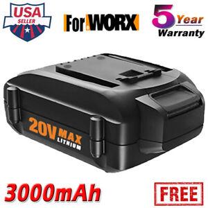 Replace-for-Worx-20V-3-0AH-Lithium-WG546-WA3578-WA3525-WA3512-Battery-WA3520-NEW