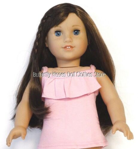 Pink Ruffle Tank Top 18 in Doll Clothes Fits American Girl