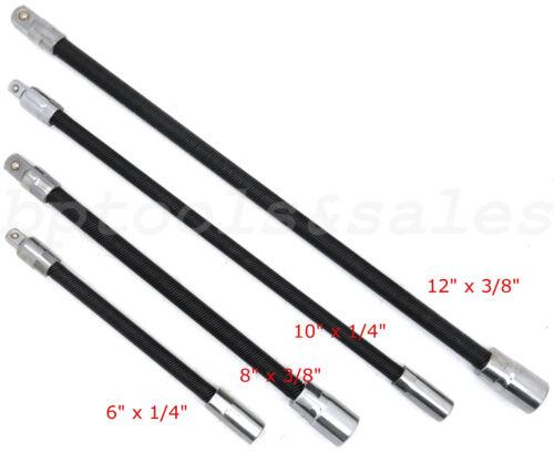 "Flexible Extension Bars Long Socket 6/"" 8/"" 10/"" 12/"" Ratchet Flex 1//4/"" /& 3//8/"" Drive"