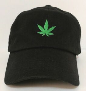 Image is loading Cannabis-Embroidery-Dad-Hat c96b72431eed