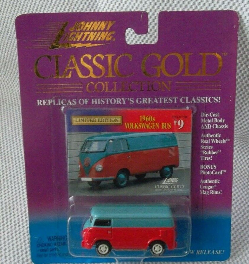 1960's VOLKSWAGEN BUS  9  Johnny Weiß Lightning 1999 CLASSIC Gold Series  CHASE
