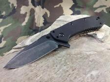 Couteau Kershaw Cryo A/O Lame Acier 8Cr13MoV Blackwash Manche G-10 KS1555G10BW