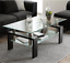 new modern glass coffee table with metal legs freeshipping
