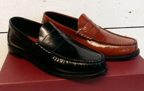 Men/'s Base London Strike High Shine Leather Slip On Shoes