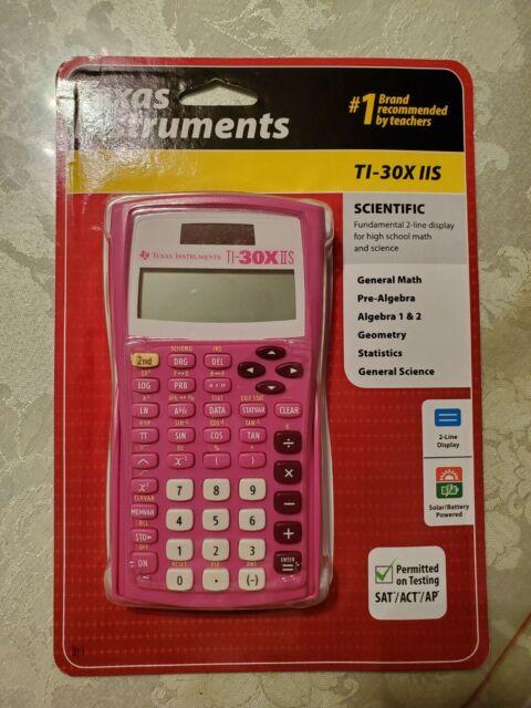 Texas Instruments TI-30XIIS TI-30X IIS 2-Line Scientific Calculator Pink - NEW
