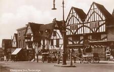 Chequers Inn Tonbridge Horse & Cart Motor Car unused RP pc
