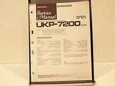 pioneer  pioneer ukp 7200 ukp 7210 ukp 7600 cassette car stereo svc manual oem