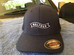 90d583ec Heren: accessoires Walther Arms Logo Embroidered Flexfit Ball Cap Hat Black  Olive Navy S/M L/XL 2X