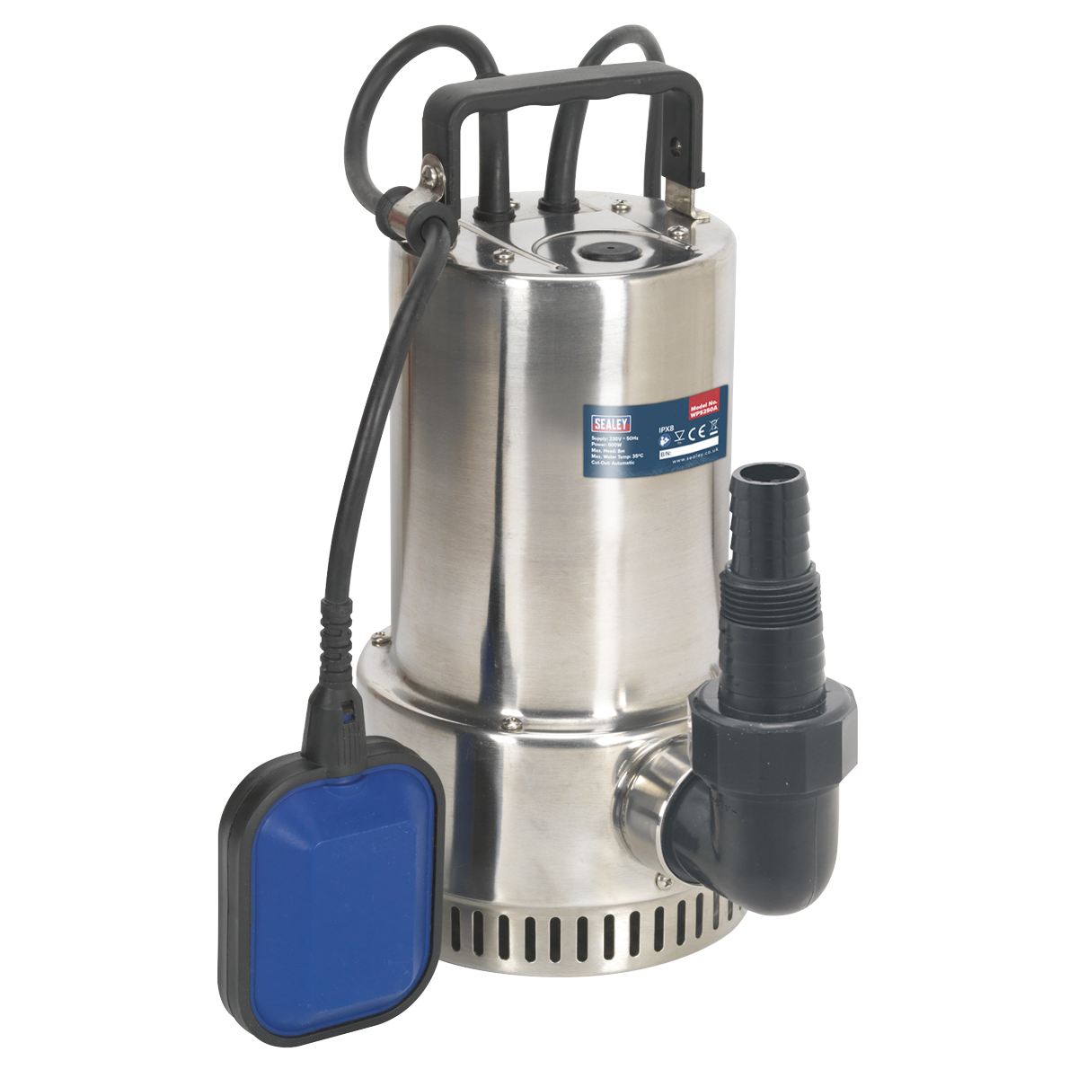 Sealey WPS250A Submersible Stainless Water Pump Automatic 250L/min 230V