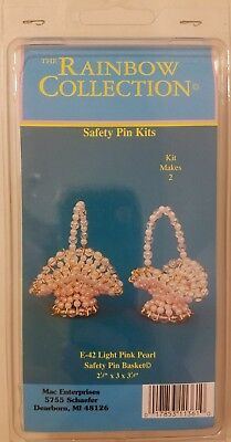 Pearl Baskets Easter Beaded Wire Beading Safety Pins Craft Kit Mac Enterprises
