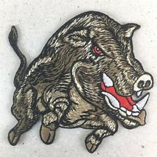 DIY HARD CORE STRONG BOAR IRON ON PATCH EMBROIDERY ADORNING FOR CLOTHE HANDMADE