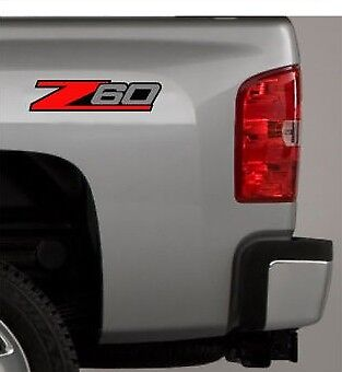2 Z60 Chevy Decal Sticker for Silverado or any Truck 4x4