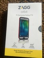 Zagg Orbit Samsung Galaxy S6 Red Cell Smart Phone Bumper Case Impact Protection