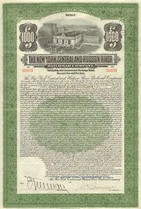1913-New-York-Central-Hudson-River-Railroad-bond-stock