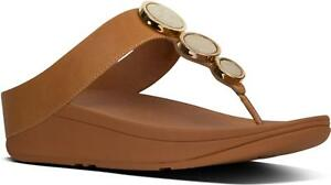 34bcf2566 Image is loading FitFlop-HALO-Ladies-Womens-Leather-Toe-Post-Wedge-
