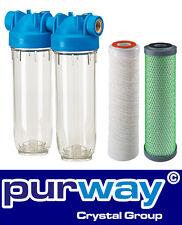 "DP2 PFAG-Pb 1 mcr 3/4"" Doppelfilter Trinkwasser Filter Schwermetalle Nickel Blei"