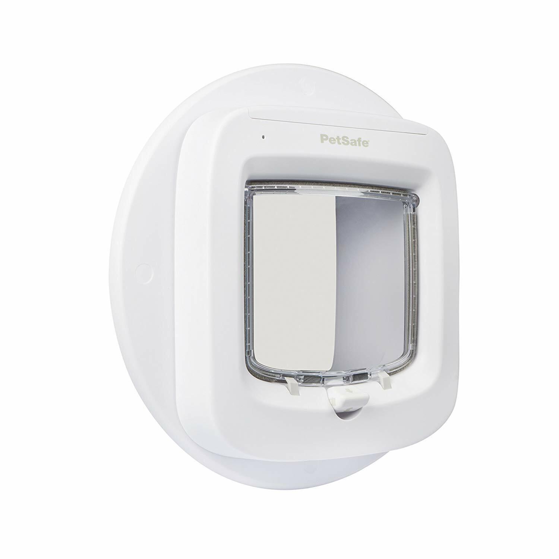 Mikrochip Katzenklappe und Accessoires, Glas Montage Adapter (Weiß)