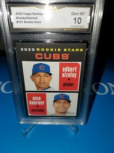 GMA 10 💎MINT~2020 TOPPS Heritage NICO HOERNER & ADBERT ALZOLAY Rookie  CUBS 🔥⚾