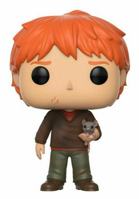 Movie Harry Potter S4 Ron Weasley with Scabbers 2017, Toy NUEVO Funko Pop