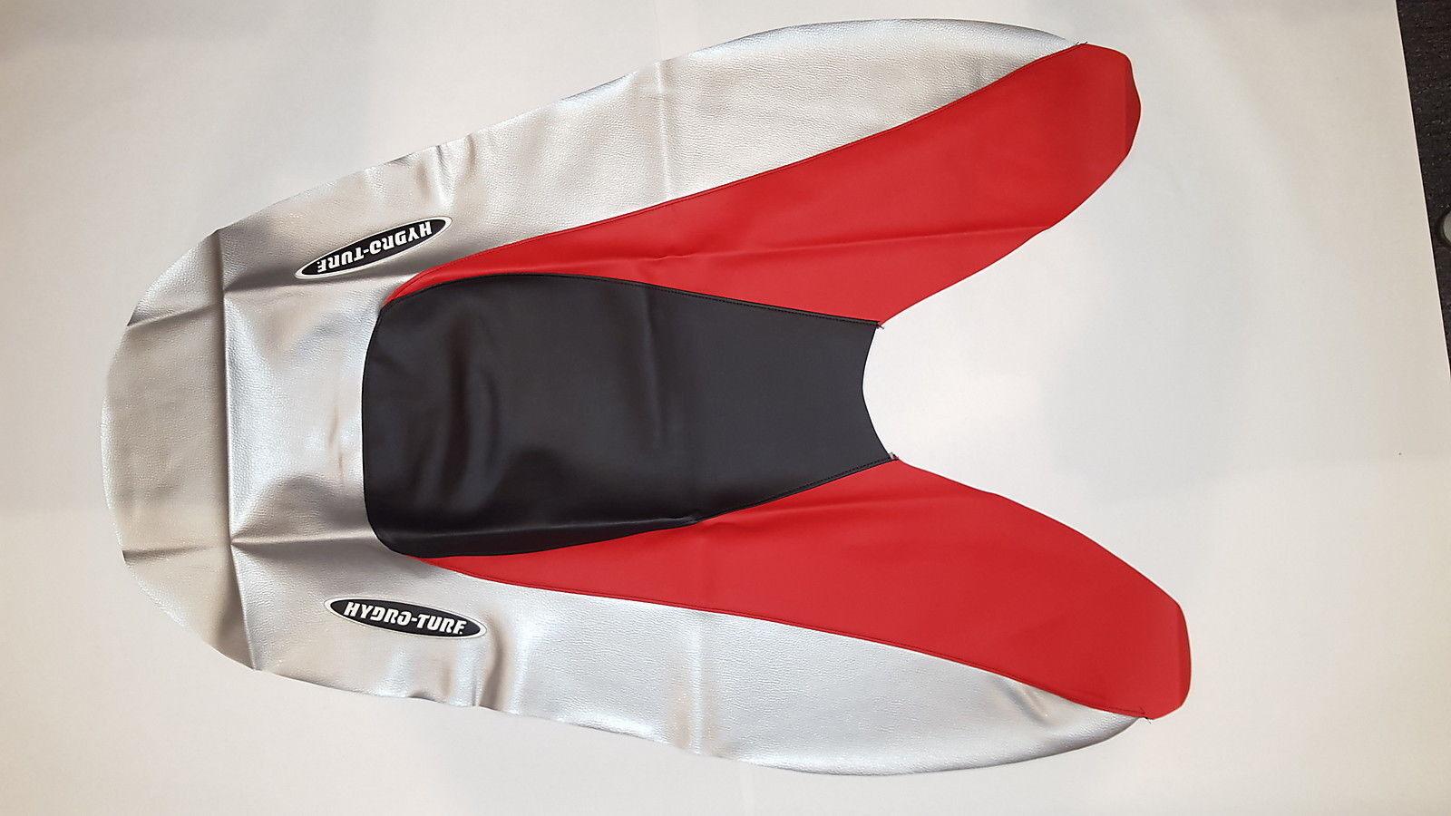 Hydro-Turf auf Lager - Sitzbezug - Honda R-12 R-12X - Schwarz/Silber/Rot