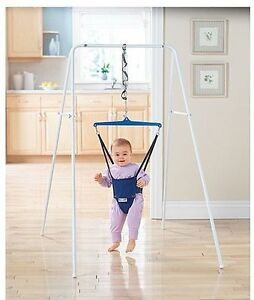 89aff0837 Jolly Jumper Port-a-Stand Pre-Walker Child Baby Exerciser on a Steel ...