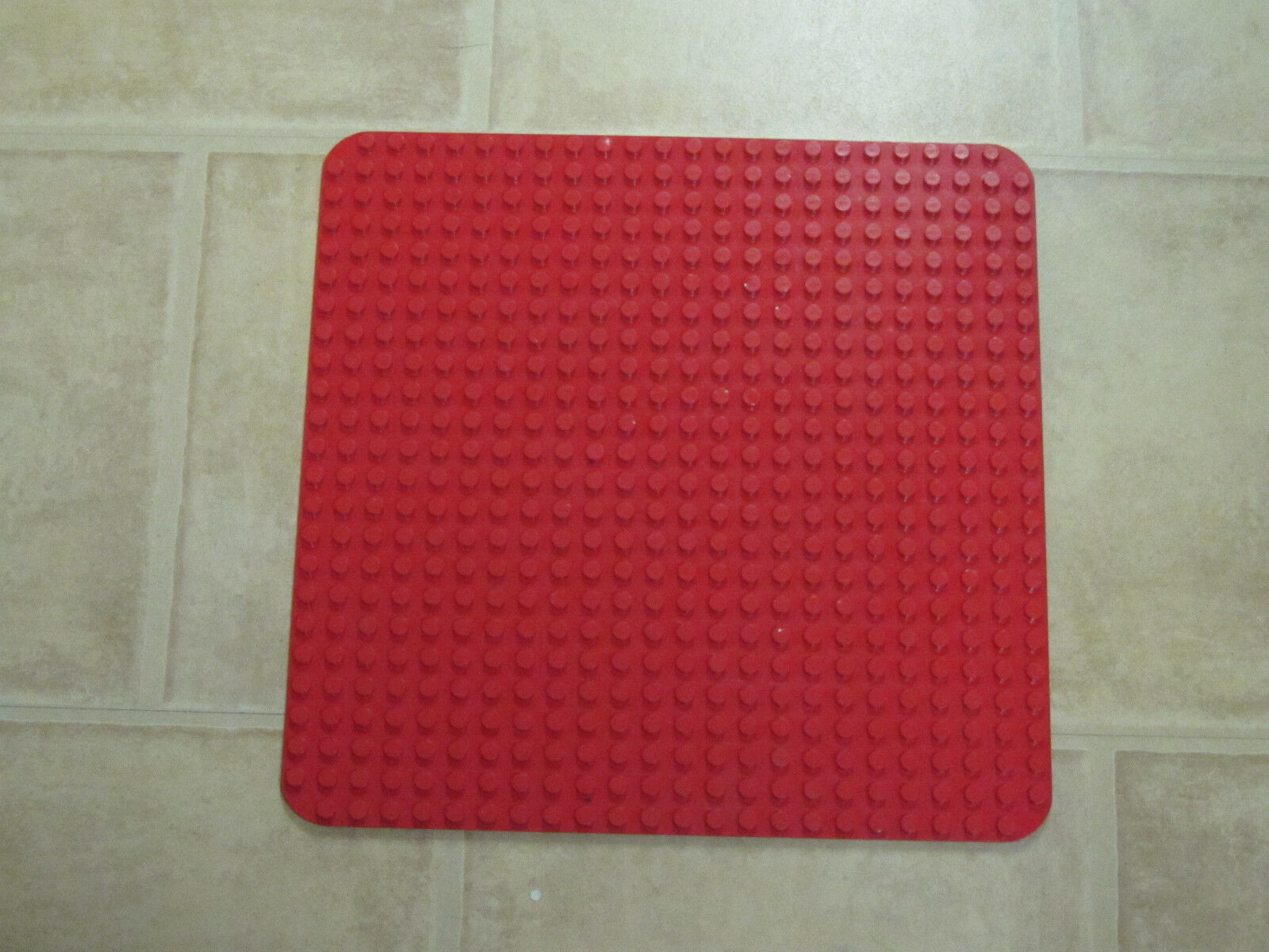 LEGO DUPLO Große Grundplatte Grundplatte Grundplatte Bauplatte Platte 38 x 38 cm Rot 4f33f6