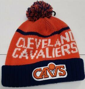 adb009b79b7 Image is loading Cleveland-Cavaliers-NBA-Adidas-Knit-Hat-cuffed-pom
