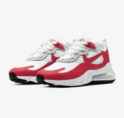 NIKE AIR MAX 270 React Shoes - White / University Red ...