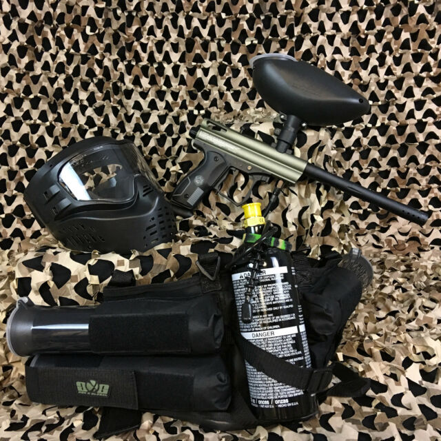 524e4034bd NEW Kingman Spyder Victor EPIC Paintball Marker Gun Package Kit - Olive  Green
