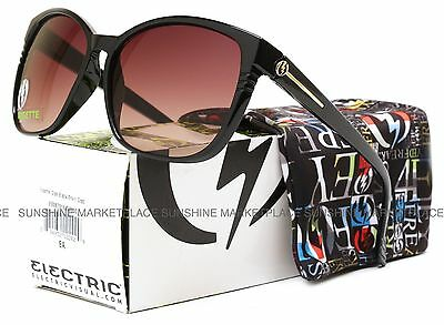 NEW Electric Rosette Sunglasses-Black Gloss-Brown Gradient Lens-SAME DAY SHIP!